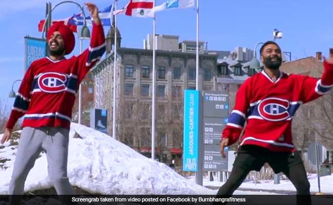 कनाडा की सड़क पर भांगड़ा करने लगे दो पंजाबी पुत्तर, वीडियो देखकर झूमने लगेंगे आप