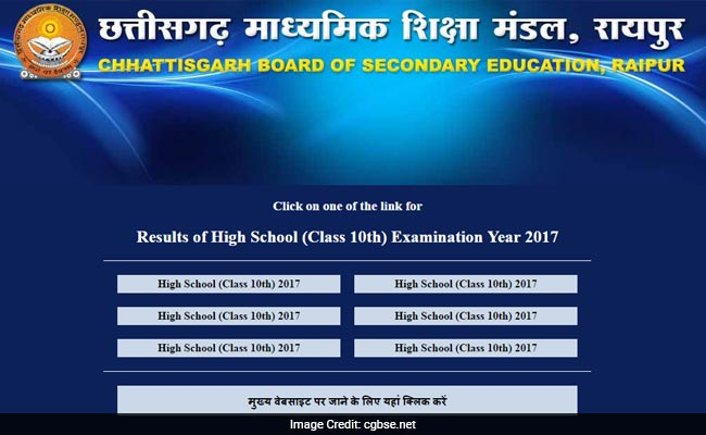 CGBSE 10th result 2017, Toppers list declared at cgbse.net