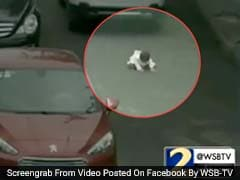 Caught On Camera: Baby Run Over By 2 Cars In China, Escapes Unharmed