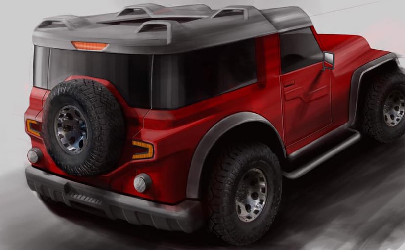 Dc Design Teases Modified Mahindra Thar Concept Ndtv