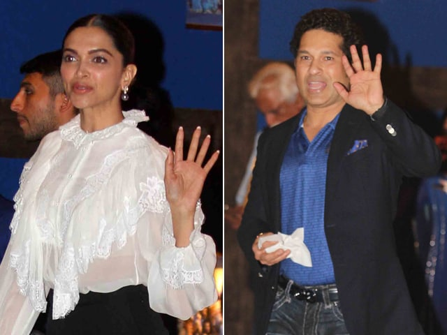 Deepika Padukone Parties With Sachin Tendulkar At Ambani Bash For Mumbai Indians