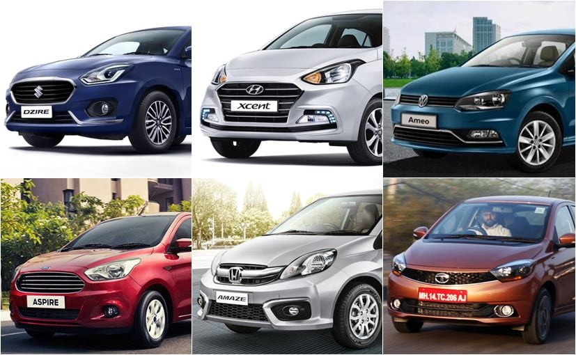 Maruti Suzuki Dzire Vs Hyundai Xcent Vs Tata Tigor Vs Honda Amaze Vs Ford Aspire Vs Volkswagen Ameo: Specifications Comparison