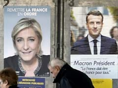 Frontrunners Emmanuel Macron, Marine Le Pen Vote In French Election