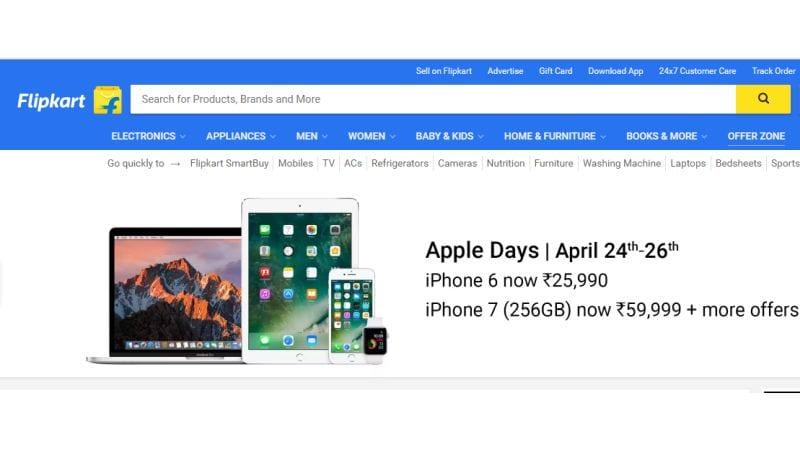 फ्लिपकार्ट ऐप्पल डेज़: आईफोन 7 और आईफोन 6 मिल रहे हैं सस्ते में