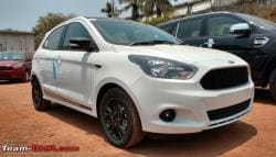 Ford Figo Sports Edition Spotted At A Dealer Stockyard Ahead Of Launch