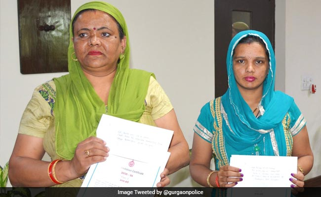 Gurgaon Women Who Fought Off Armed Robbers At Bank Rewarded