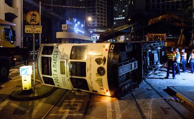 hong kong tram flip afp