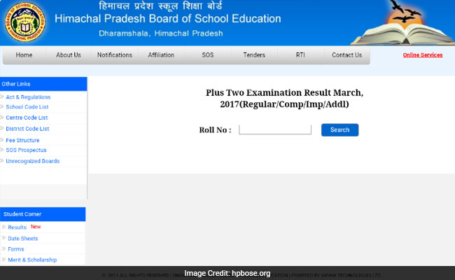 hpbose class 12 result