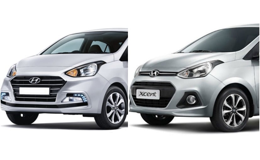 2017 Hyundai Xcent Old Vs New Ndtv Carandbike