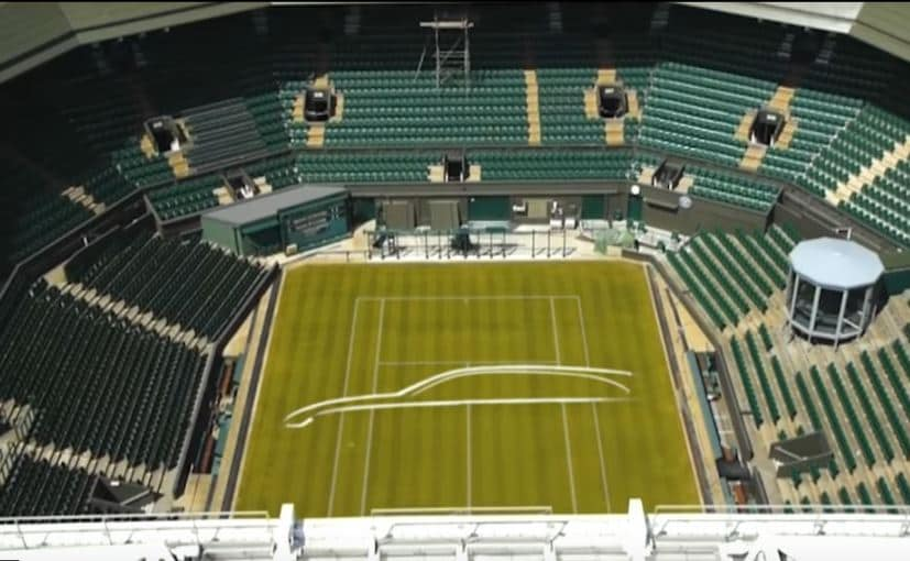 Jaguar Teases XF Sportbrake By Drawing Design Outline On Wimbledon Centre Court