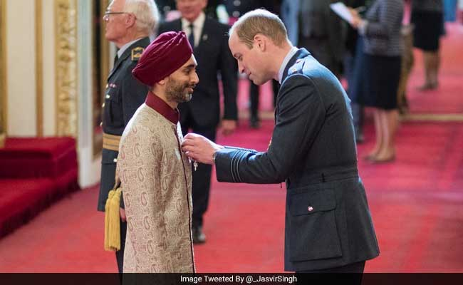 British Sikh Barrister Jasvir Singh Receives Order Of The British Empire From Prince William