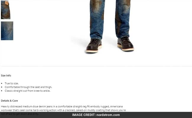 jeans with fake dirt