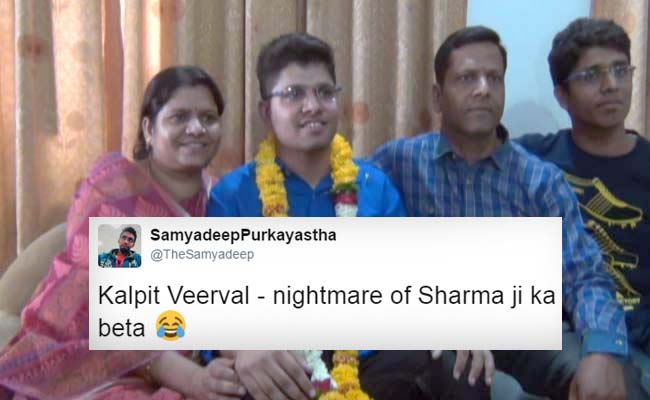 Kalpit Veerval Scores 100% In JEE Main, Everyone Thinks Of The Same Joke