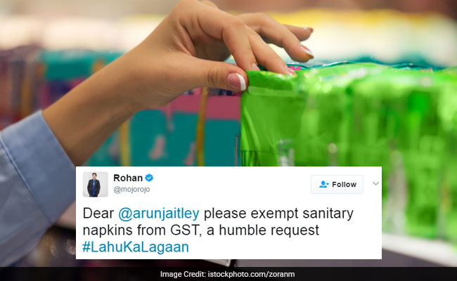 Celebrities Tweet Arun Jaitley, Want Sanitary Napkins To Be Tax-Free