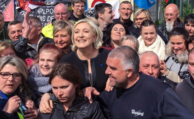 Marine Le Pen Upstages Emmanuel Macron With French Factory Visit