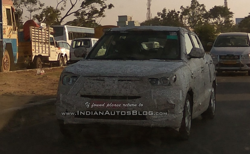 New Mahindra Compact Suv Codenamed S201 Spotted Testing