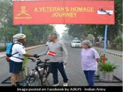 Army Veteran Pedals '2 Minutes For Each Martyr' Across India