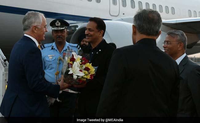 Australian Prime Minister Malcolm Turnbull  Arrives On Four-Day India Visit