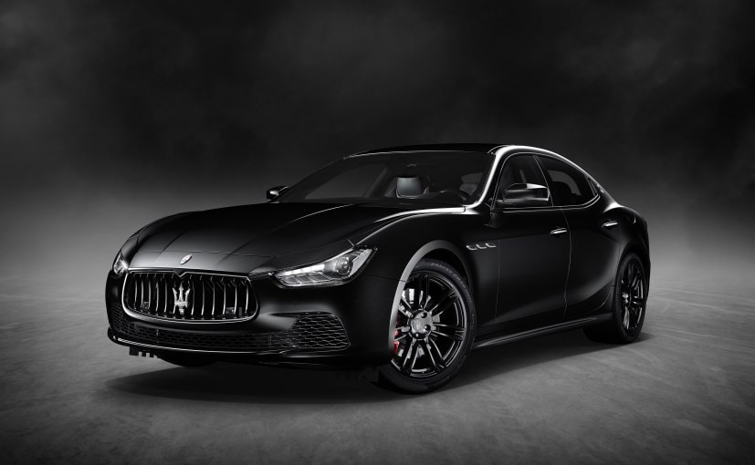 2017 new york auto show all black maserati ghibli nerissimo edition unveiled ndtv carandbike. Black Bedroom Furniture Sets. Home Design Ideas