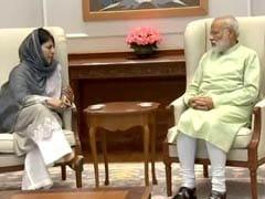 पीएम मोदी से मिलीं महबूबा मुफ्ती, कश्मीर में राज्यपाल शासन पर ये दिया जवाब
