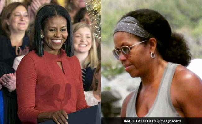 Internet Loves This Pic Of Michelle Obama Sporting Her Natural Hair