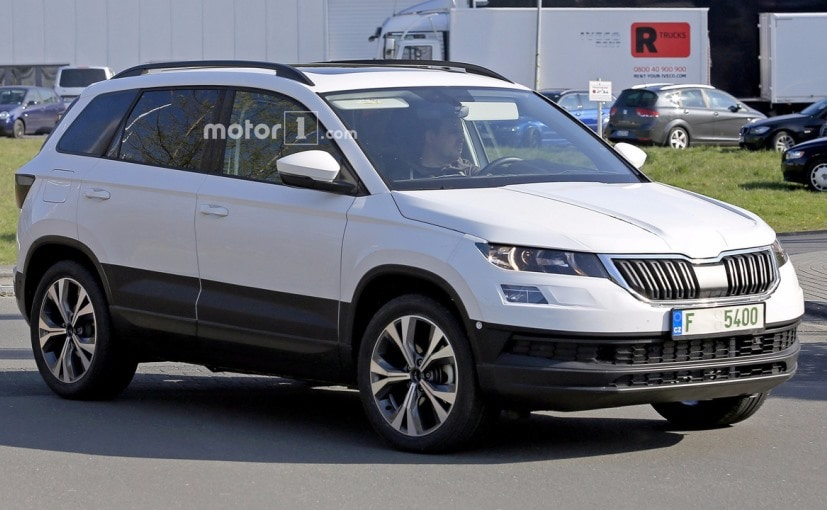 new gen skoda karoq spotted testing ndtv carandbike. Black Bedroom Furniture Sets. Home Design Ideas