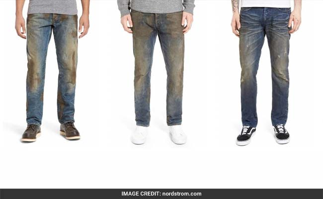 A listing for the $425 jeans on the website of upscale department store Nordstrom has gone viral