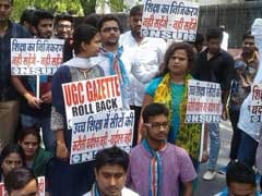 UGC Gazette, Autonomy Issue: NSUI Marches To HRD Ministry