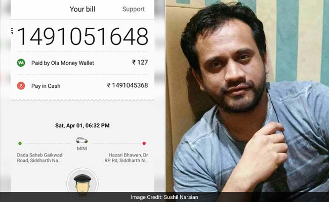 Ola Charged This Guy Rs 149 Crore On April 1. No, It Wasn't A Prank
