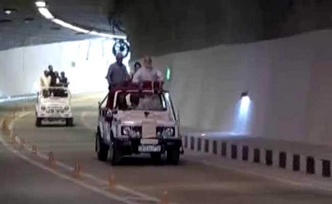 PM Narendra Modi In Jammu And Kashmir Inaugurates India's Longest Road Tunnel Today