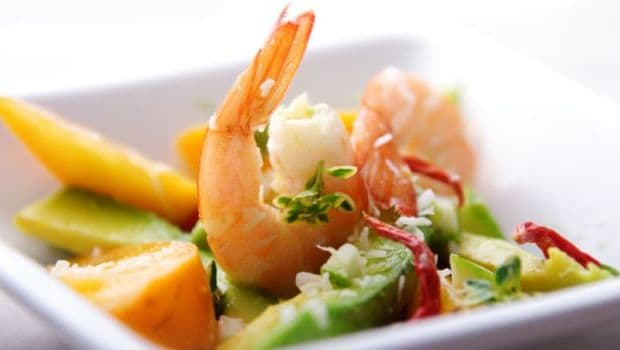 prawn and kitchu salad