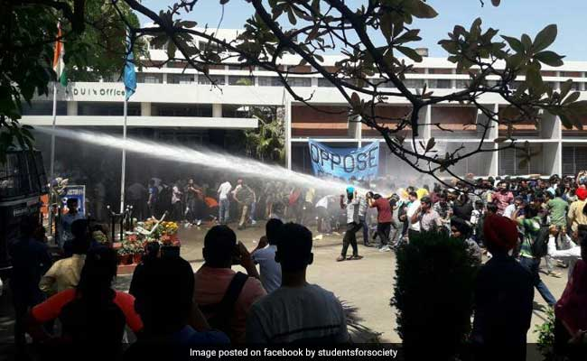 Panjab University Protest: Water Canons, Tear Gas Used As Students Target Cops
