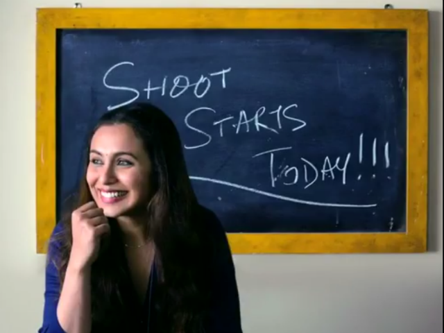 Rani Mukerji Begins Shooting For Her Comeback Film Hichki