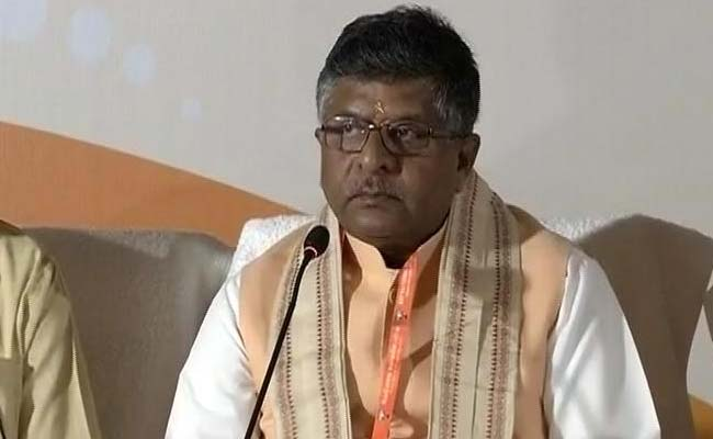 Decision On Next Attorney General At Appropriate Time: Law Minister Ravi Shankar Prasad
