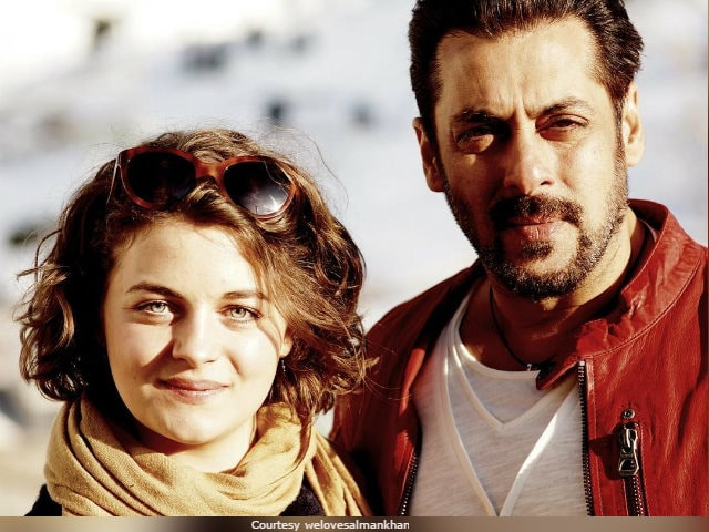 Trending: Salman Khan's Pic With Playboy Model Ronja Forcher From Tiger Zinda Hai Sets