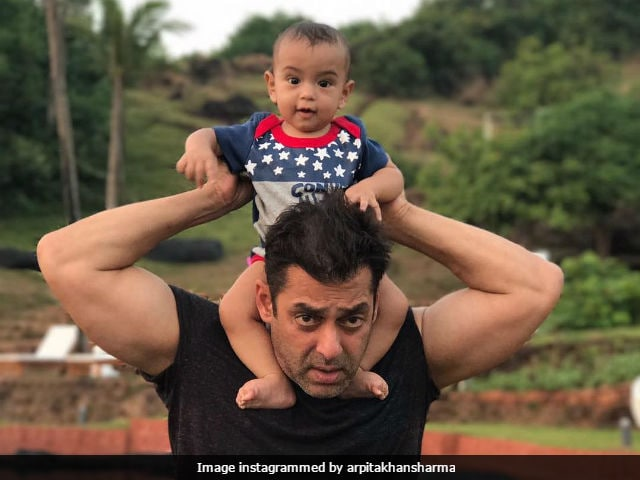 Salman Khan And Nephew Ahil Are Picture Perfect Together