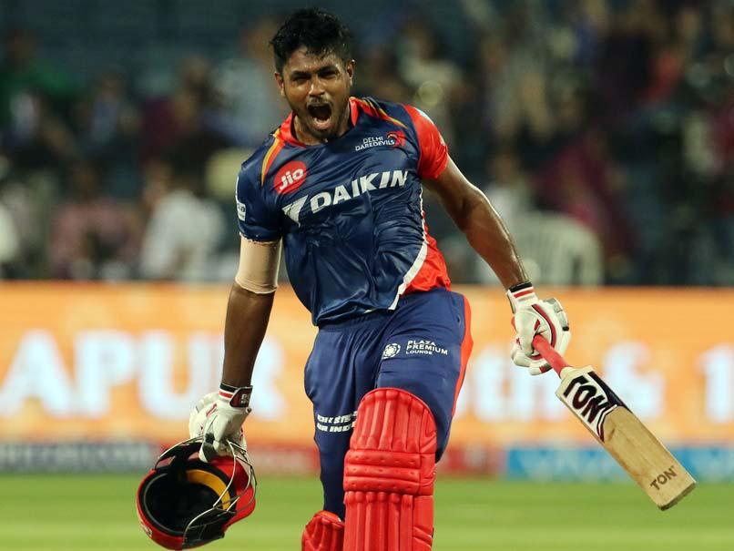 Sanju Samson Hammers 1st Century of IPL 2017