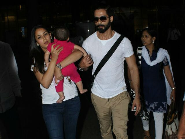 Trending: Shahid Kapoor, Mira Rajput Travel With Cutie Pie Daughter Misha