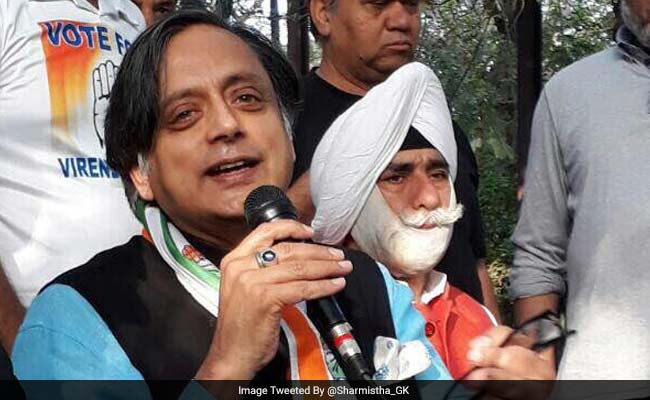MCD Polls: Shashi Tharoor Launches Congress's People Connect Campaign