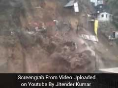 Massive Chunk Of A Hill Comes Crashing On Construction Site In Shimla