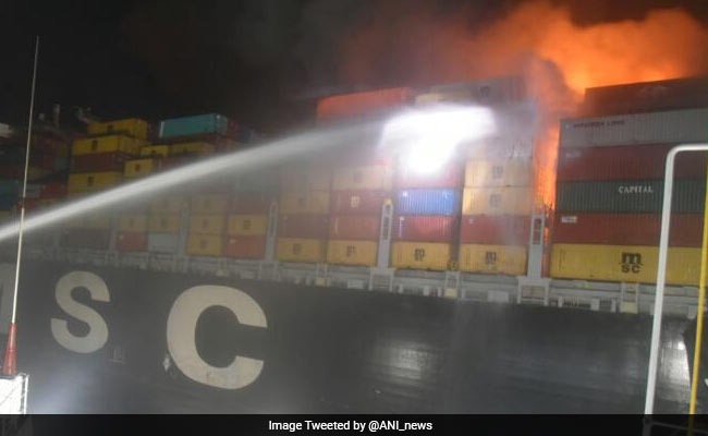 Cargo ship catches fire off Colombo coast, Indian Navy sends help