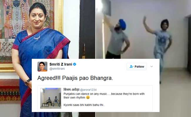 Punjabi Mundas Dance To Remixed 'Kyunki' Track. Smriti Irani Tweets This