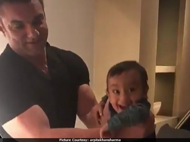 Ahil Adorably Learns To Play Piano With 'Mamu' Sohail Khan