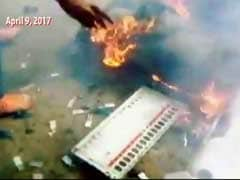 In Srinagar Video From Sunday, Mob Smashes And Burns EVMs; Re-poll Tomorrow