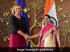 Sushma Swaraj Meets European Union High Representative