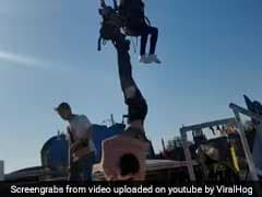 In Chilling Video, Woman Falls Out Of Swing, Dangerously Dangles Mid-Air