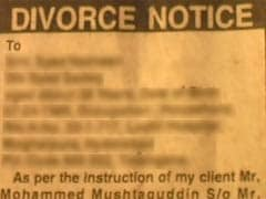 Triple Talaq: Man Charged For Divorcing Wife Through Newspaper Advertisement