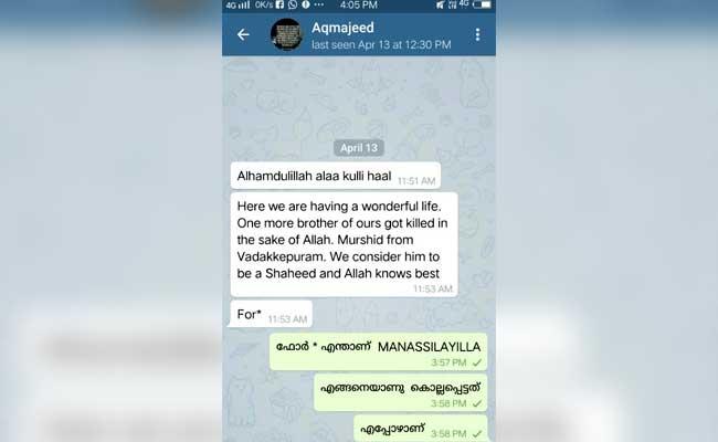 telegram message kerala man