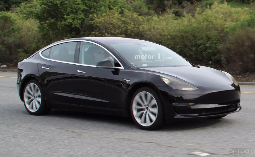 Production Ready Tesla Model 3 Spotted Testing Ndtv