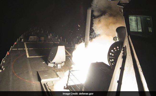 US Strikes Syrian Targets With 59 Cruise Missiles In Response To Gas Attack